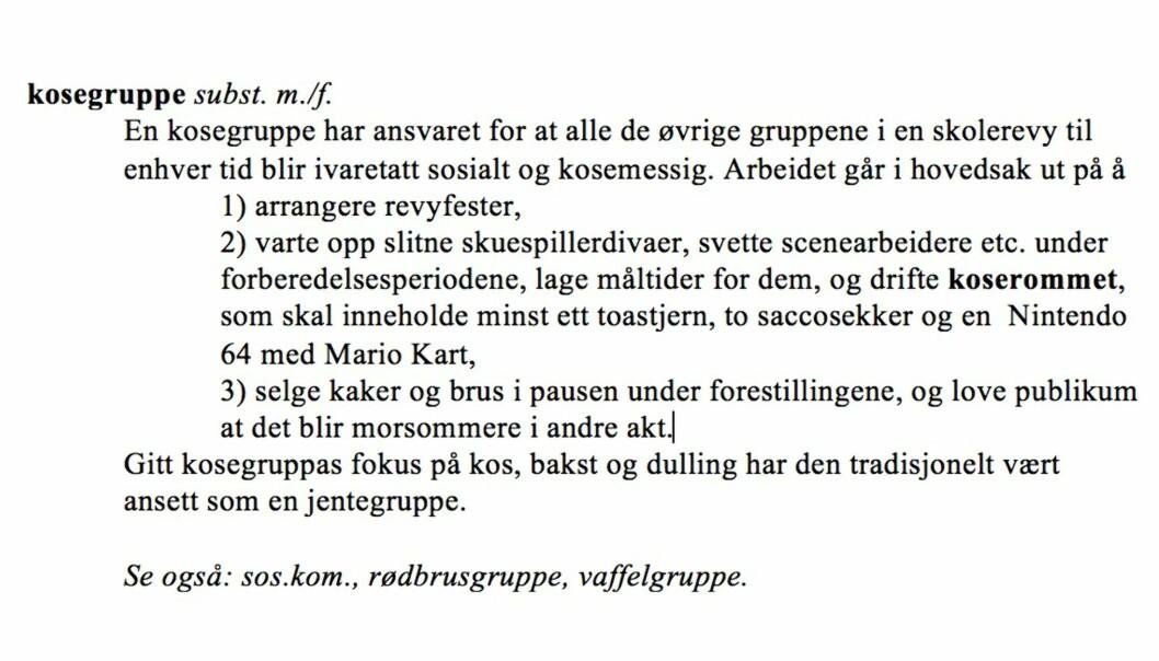 Fra «Norsk Skolerevy-ordliste» (C. Pahle 2016). Gjengitt med tillatelse fra forfatteren.