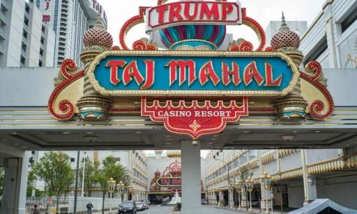 STENGT IGJEN: Det har vært en brutal vei mot toppen for Donald Trump. Hans hotellkasino Taj Mahal i Atlantic City har hatt en kaotisk historie og ble stengt igjen denne måneden. Foto: AFP PHOTO / Jewel SAMAD