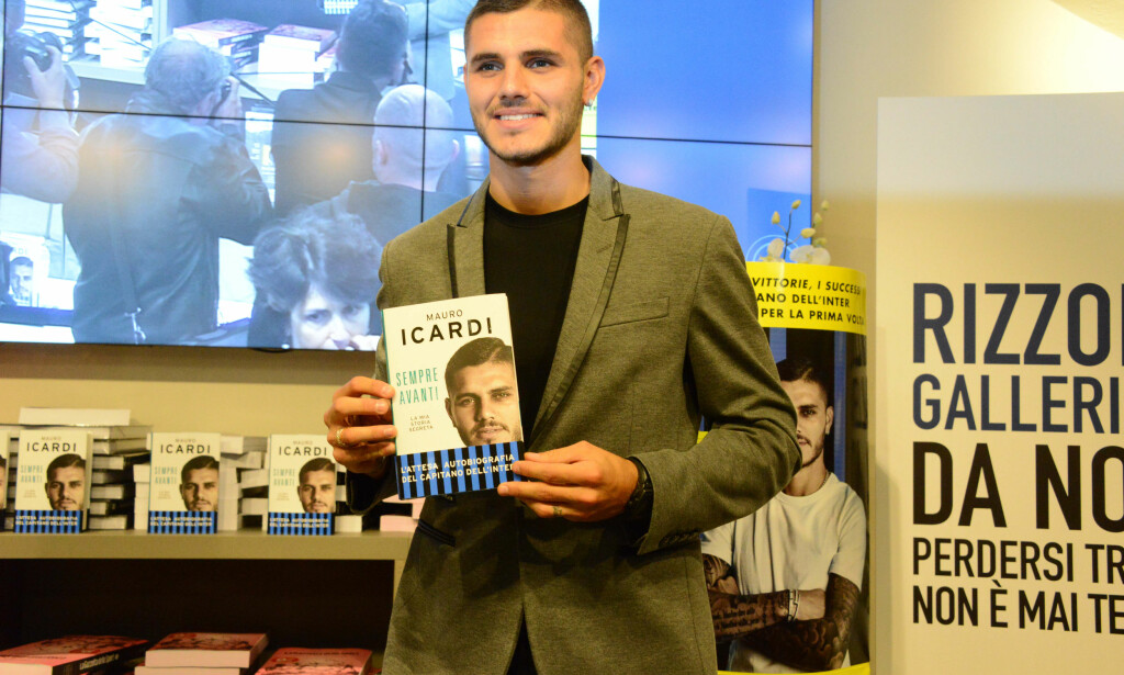 NY BOK: Mauro Icardi lanserte nylig sin nye selvbiografi. Foto:CM / Splash News