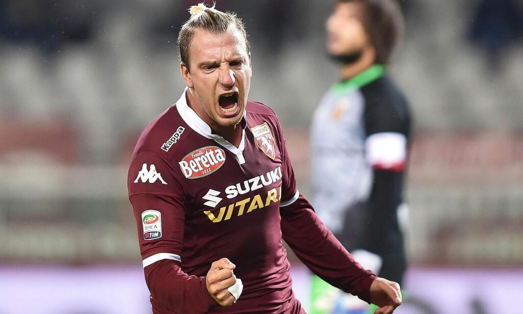 VRAKET: Maxi Lopez på Torino er ikke imponert av sin tidligere lagkamerat fra Sampdoria. Foto: EPA/ALESSANDRO DI MARCO