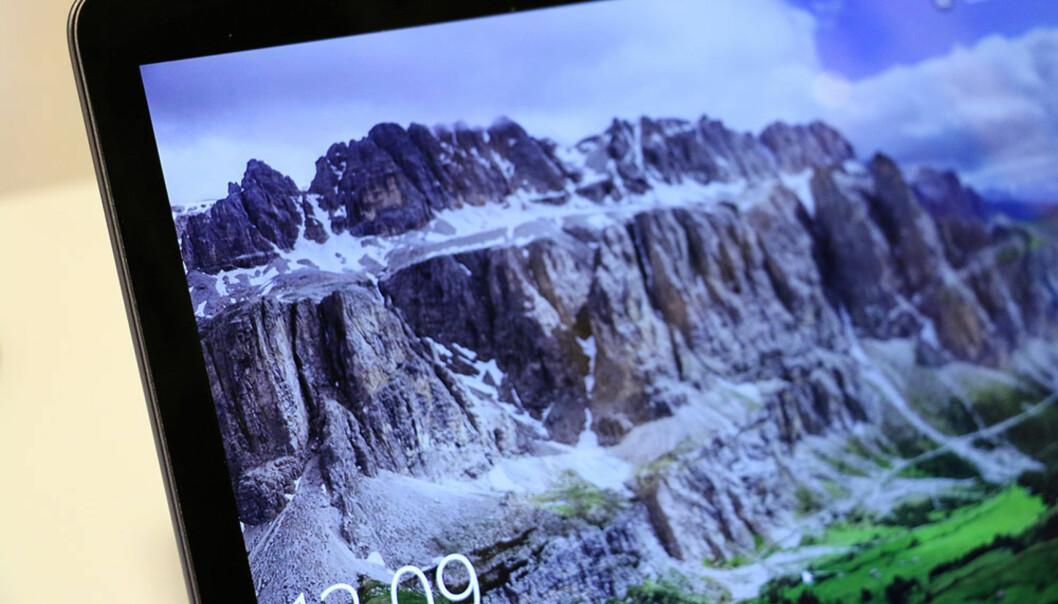 <strong>LATTERLIG SKARPT:</strong> Skjermen har ikke helt 4K-oppløsning, men det er ikke så langt unna. Den er særdeles skarp, og byr i tillegg på svært god innsynsvinkel. Foto: Bjørn Eirik Loftås