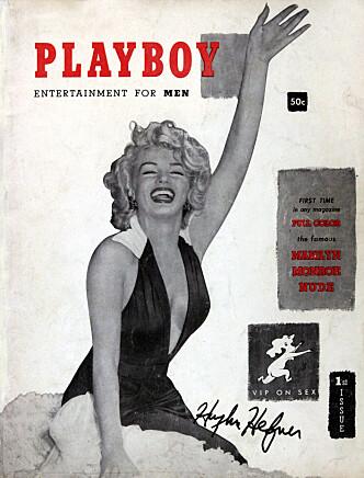 FØRSTE NUMMER: Marilyn Monroe prydet forsiden på Playboys første utgave. Det ble gitt ut i desember 1953. Foto: Polaris / Piero Oliosi