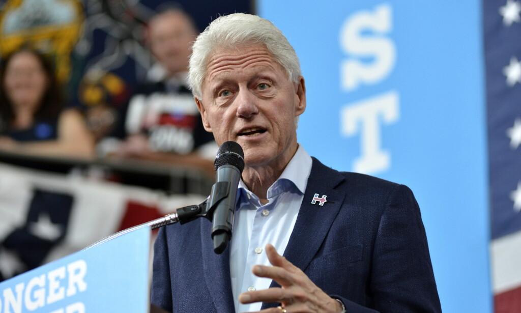 SKAL MØTE ERNA SOLBERG: USAs tidligere president Bill Clinton møter i dag statsminister Erna Solberg i statsministerboligen i Oslo. Foto: NTB Scanpix