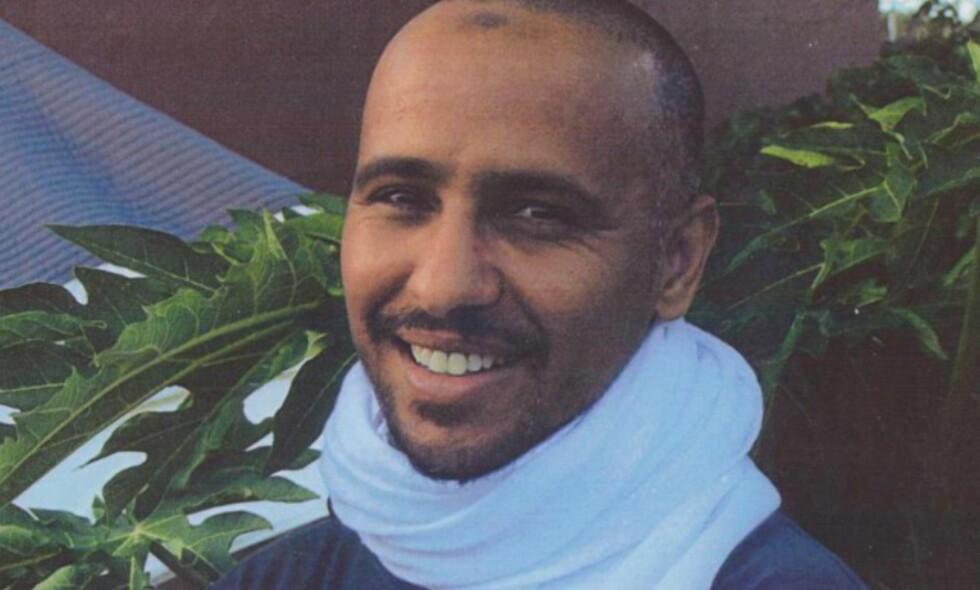 14 ÅR I FANGENSKAP: Uten å ha vært siktet for et lovbrudd har Mohamedou Ould Slahi (45) tilbrakt 14 år i fangenskap i amerikanernes beryktede fangeleir Guantánamo i Cuba. Denne uka ble han løslatt. Foto: Cappelen Damm