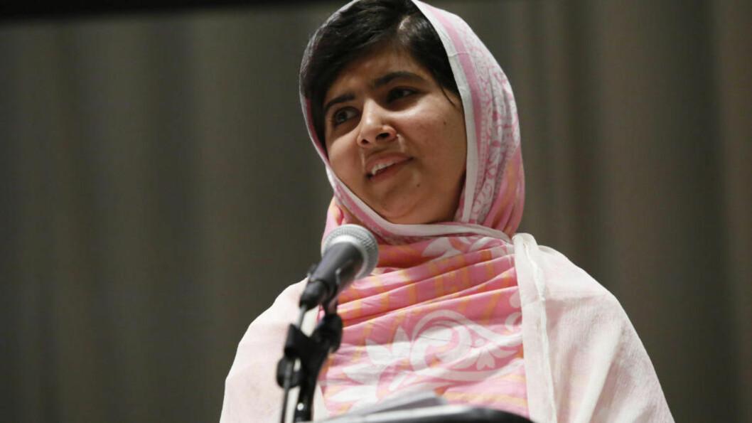 NY TRUSSEL: Taliban i Pakistan har kommet med en ny trussel mot 16 år gamle Malala Yousafzai, etter at de forsøkte å drepe henne i fjor. Nå er hun en av favorittene foran årets utdeling av Nobels fredspris. Foto: AP Photos/FN, Stuart Ramson/NTB Scanpix