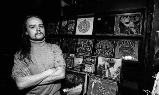 BLE DREPT: Øystein Aarseth avbildet i platebutikken sin før han ble knivstukket og drept. Foto: Jan-Petter Dahl / Dagbladet