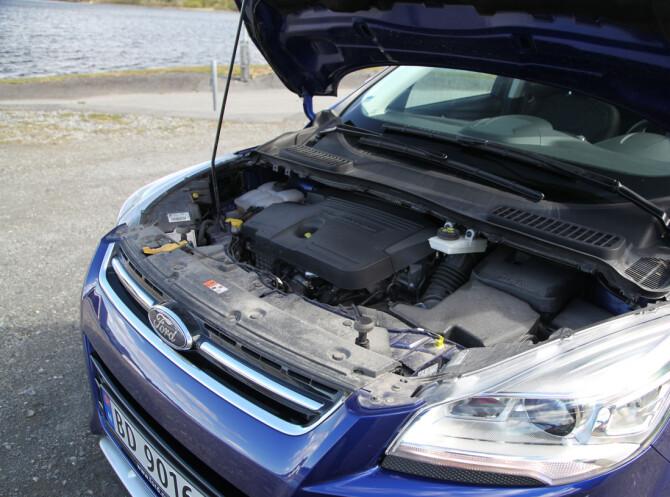 <strong>IMPONERER:</strong> Ford Kuga har en utmerket diesel-motor.
