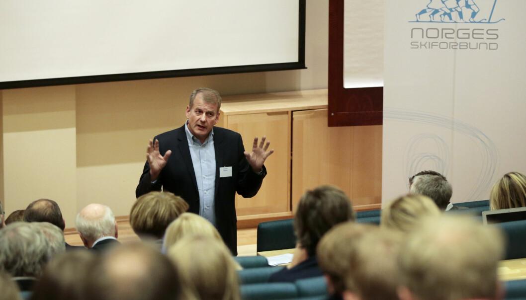 <strong>KRITISERER:</strong> Skipresident Erik Røste er ikke fornøyd med FIS-presidentens uttalelser. Foto: Lise Åserud / NTB scanpix