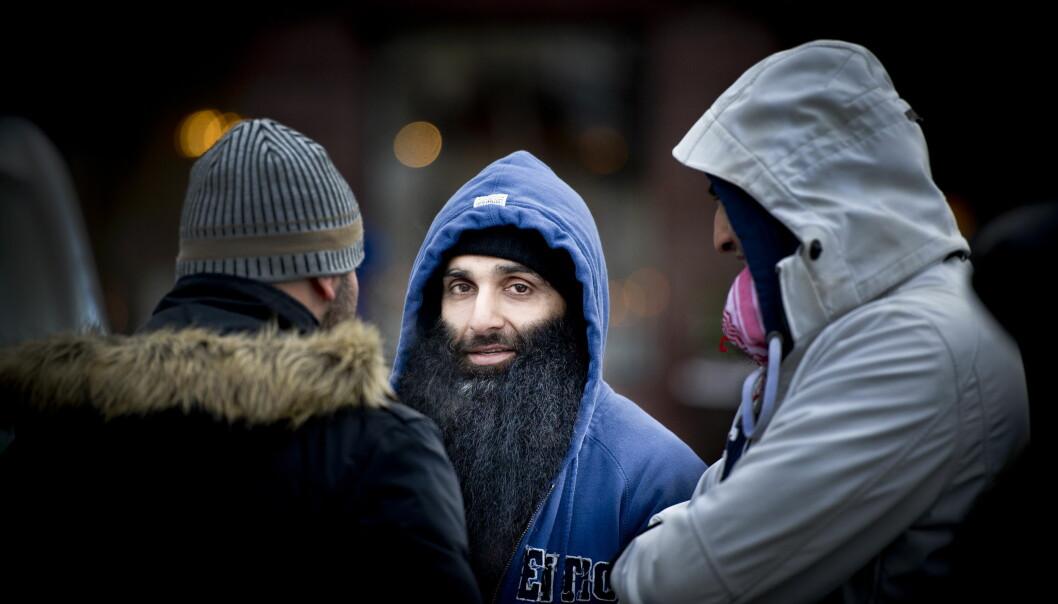 <strong>PÅGREPET:</strong> Arfan Bhatti har blitt pågrepet i kveld. Her er Bhatti foran Stortinget i 2012, under en demonstrasjon mot Norges engasjement i Afganistan. Foto: John T. Pedersen / Dagbladet