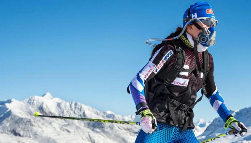 <strong>IKKE LOV:</strong> Finnene trener med oksygenmasker, men har ikke lov til å bruke dem i konkurranser. Foto: Trond Tandberg/Getty Images <div><br></div>