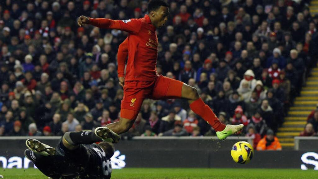 GODT I GANG: Daniel Sturridge har allerede utmerket seg ved å score flere mål tidlig i sin Liverpool-karriere. Foto: REUTERS/Phil Noble/NTB scanpix