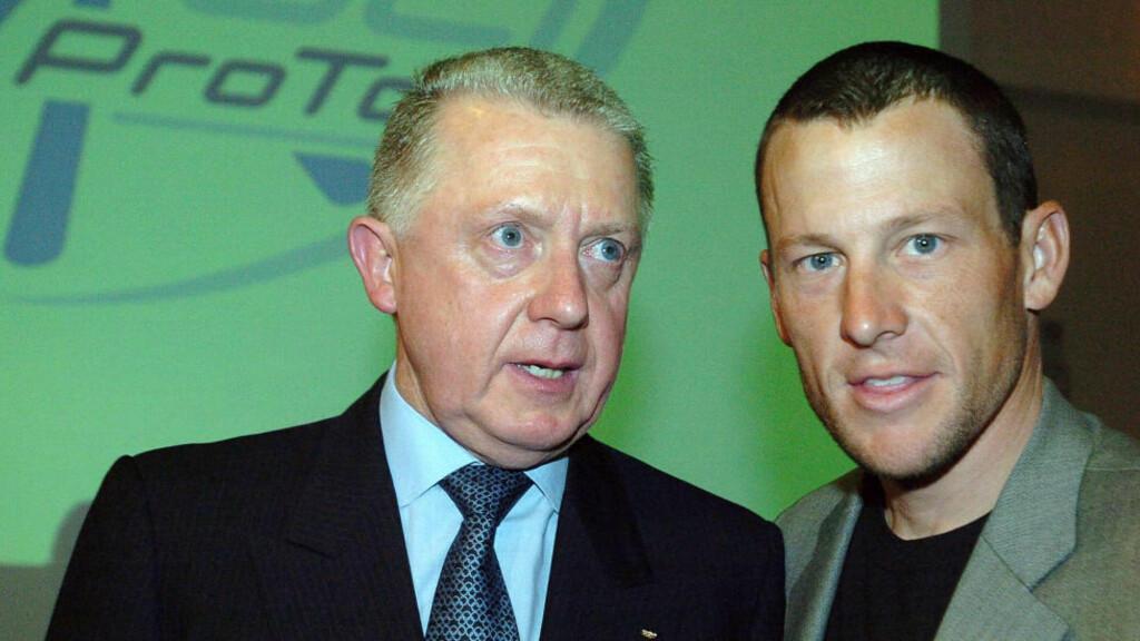 OMSTRIDT EKS-PRESIDENT: Mange spekulerer på om tidligere UCI-president Hein Verbruggen står på lista over folk Lance Armstrong er villig til å angi i sitt eventuelle vitnemål om doping i sykkelsporten. Foto: SCANPIX/AP/Christophe Ena