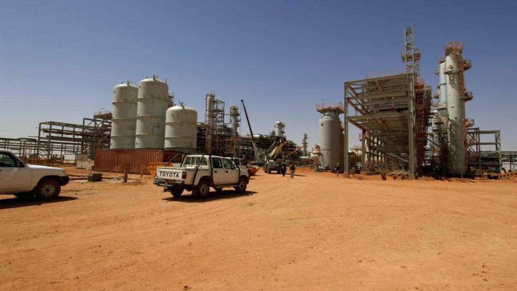 Arkivbilde av gassanlegget i Amenas i Algerie, der Statoil er en av operatørene.  Flere utlendinger er bortført i et angrep på anlegget onsdag. Foto: Kjetil Alsvik / STATOIL / NTB scanpix