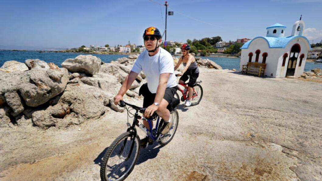 <strong>FERIEVINNER:</strong> Hellas blir det mest populære ferielandet. Flest nordmenn velger Kreta og da er det Chaniakysten som gjelder. Foto: JOHN TERJE PEDERSEN
