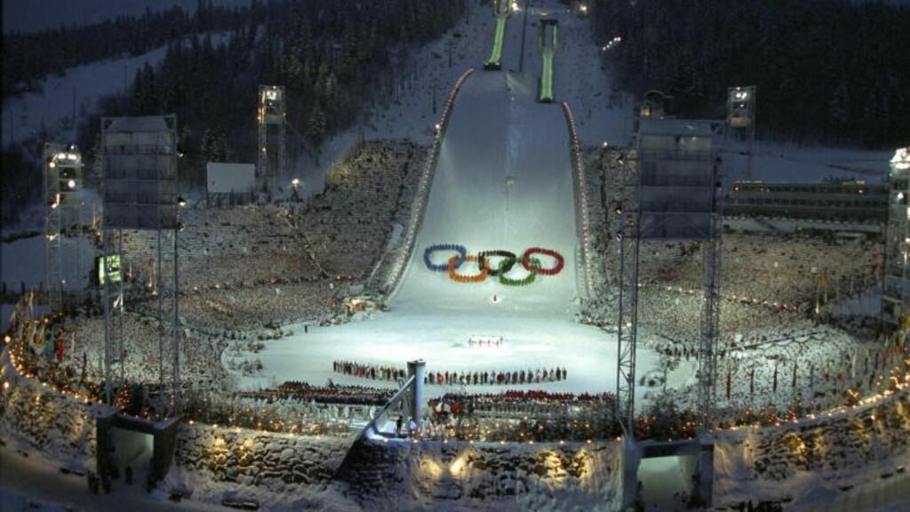 VÆRFLAKS 1994:  OL-åpningen på Lillehammer og skiøvelsene ble stor vinter-pr for Norge. Snøen kom i grevens tid. FOTO: JAN PETTER DAHL / DAGBLADET.