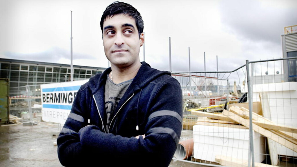 MÅLLØS: Tommy Sharif sier til Dagbladet at han er målløs og oppgitt etter at noen har brutt seg inn i lageret hans på gamle HOV møbler i Søndre Land.  Foto: John T. Pedersen/Dagbladet