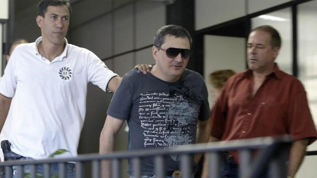 PÅGRPET.  Mauro Hoffmann - en av eierne på nattklubben som er pågrepet.  Den andre eieren, Elissandro Spohr skal ifølge CNN forsøkt å ta sitt eget liv etter pågripelsen. Foto: Scanpx