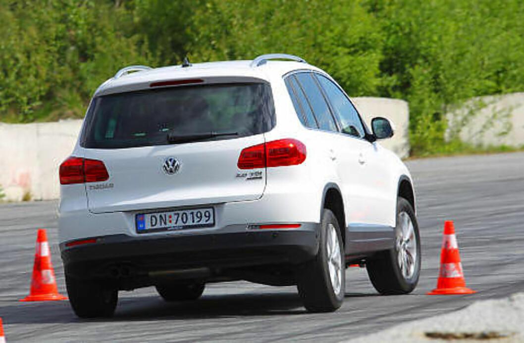 VW TIGUAN: Kompakt-SUV-en holder koken tross et langt liv, og får terningkast fem.
