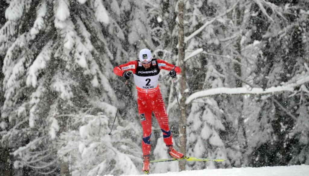 OL-TEST: Petter Northug går alle de tre distansene under helgas prøve-OL i Sotsji. Foto: AFP/NTB Scanpix