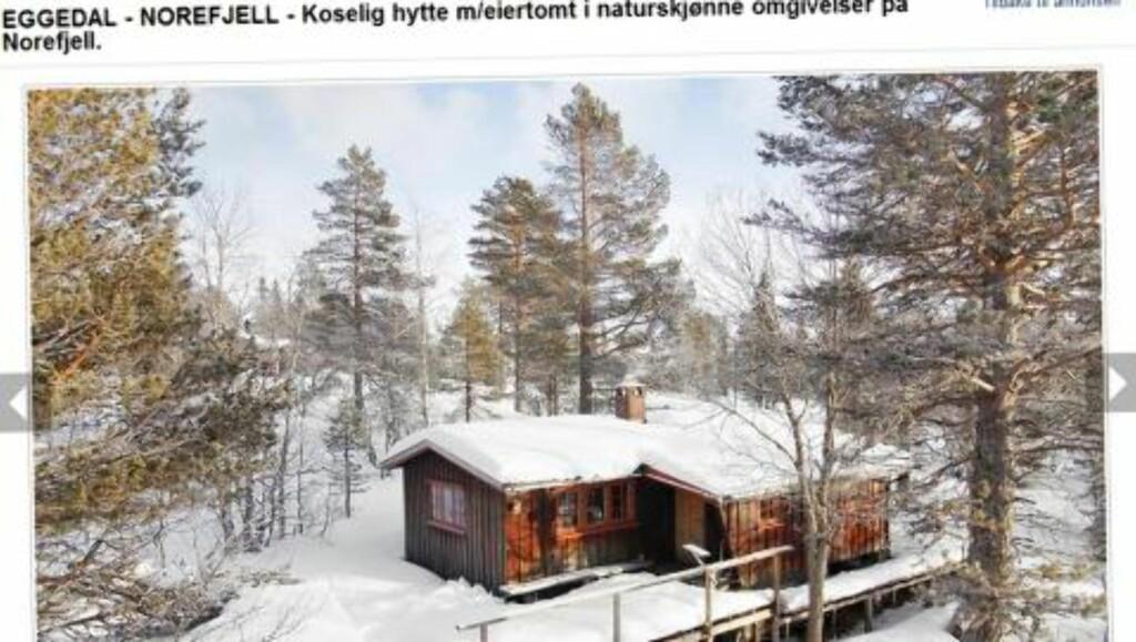 HYTTEKOS: Hytte i Eggedal/Norefjell. Prisantydning 790 000 kroner.  Primærrom 44 kvadratmeter med tre soverom. Tomta er på 1 mål, eiet. Byggeår 1971. Faksimile: Finn.no
