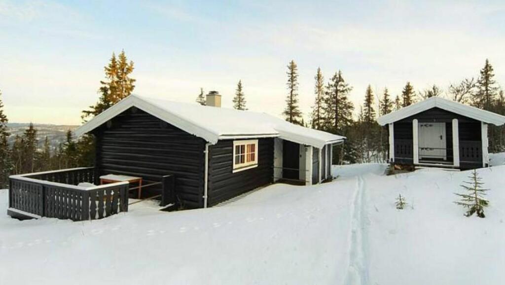 HÅNDLAFT: Tradisjonell hytte med helårsvei i Turitrøen, Ølslykkja i Etnedal. Prisantydning 790 000 kroner. Primærrom 36 kvadratmeter og to soverom. Tomta er på cirka 2,5 mål, eiet. Byggeår er 1973.  Foto: Terra