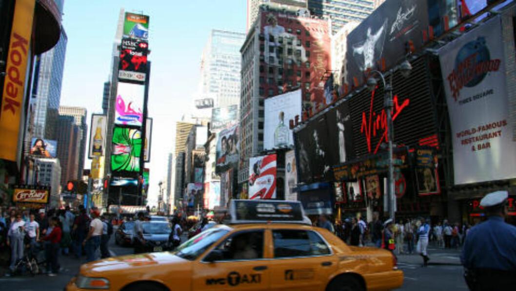 <strong>NEW YORK:</strong> Mange vil besøke den hektiske storbyen i vår. Foto: KIRSTEN MARGRETHE BUZZI