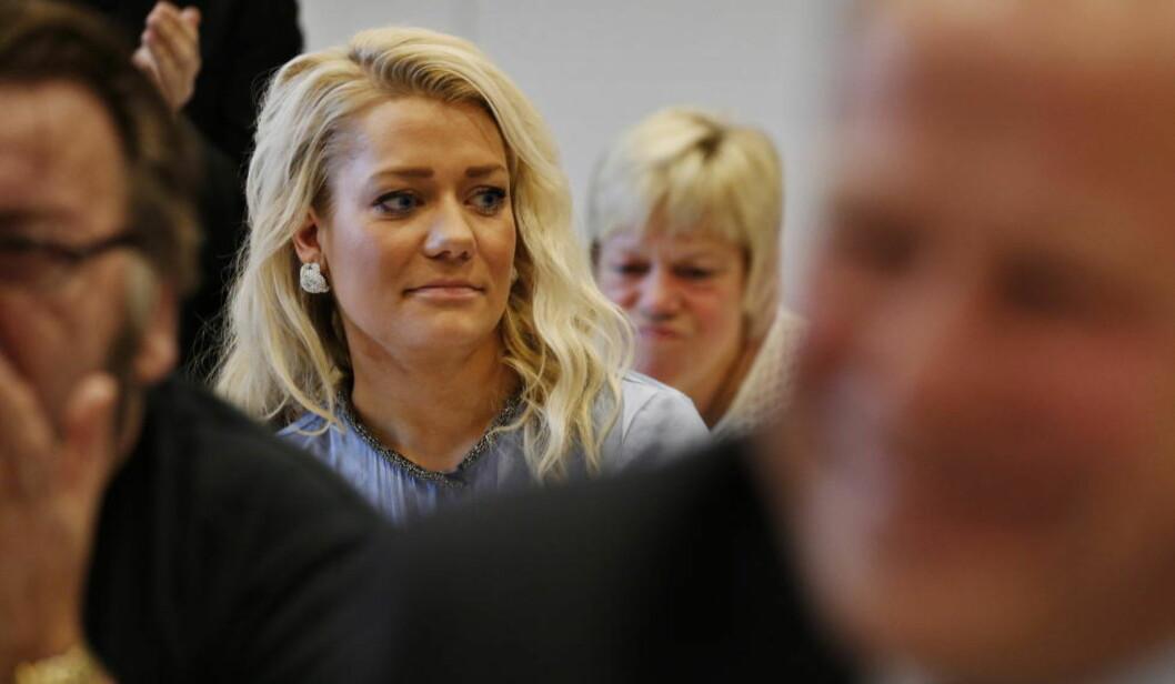 <strong>VILLE BINDE BORCH:</strong> Sandra Borch ville ikke la seg binde til å stemme nei til oljeboring i Lofoten på Senterpartiets kommende landsmøte, slik flere fylkeslag forsøkte å kreve av henne. Foto: Erlend Aas / NTB scanpix
