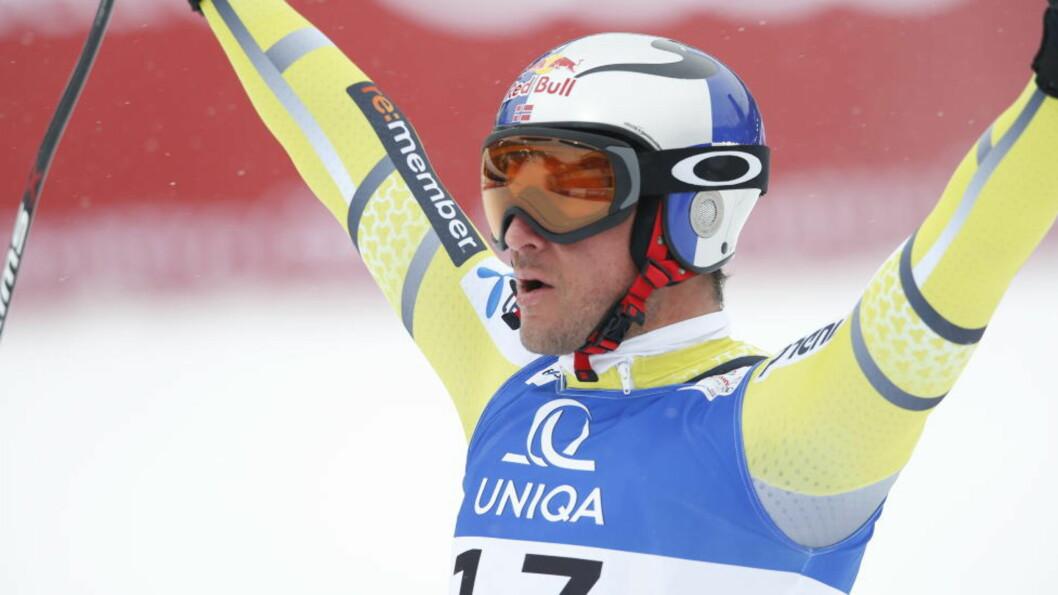 <strong>IKKE MULIG:</strong> Aksel Lund Svindal mener at det ikke er mulig å fikse resultatene i alpint. Her er han i målområdet etter gårsdagens seier. Foto: Bjørn Langsem/Dagbladet