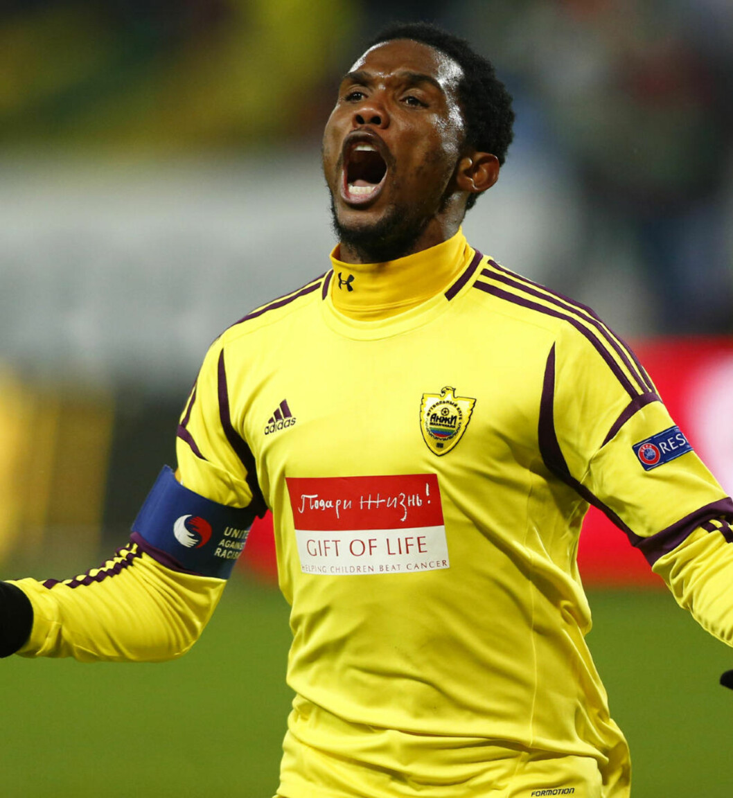 <strong>REDD :</strong> Samuel Eto'o frykter for sitt eget liv, og tror Kamerunds fotballforbund ønsker å drepe ham. Foto: NTB Scanpix