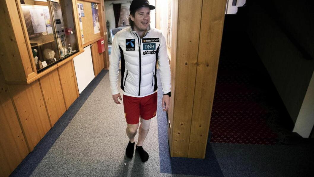 <strong>OPTIMIST:</strong> Kjetil Jansrud håper å være tilbake i løypa raskere enn forespeilet. Foto: Bjørn Langsem / DAGBLADET.