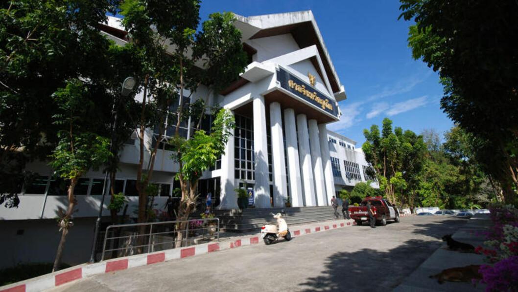 <strong>RETTSBYGNINGEN:</strong> Her, i Phuket provinsrett, foregår hovedforhandlingene i drapssaken mot Dokset. Foto: RALF LOFSTAD / DAGBLADET