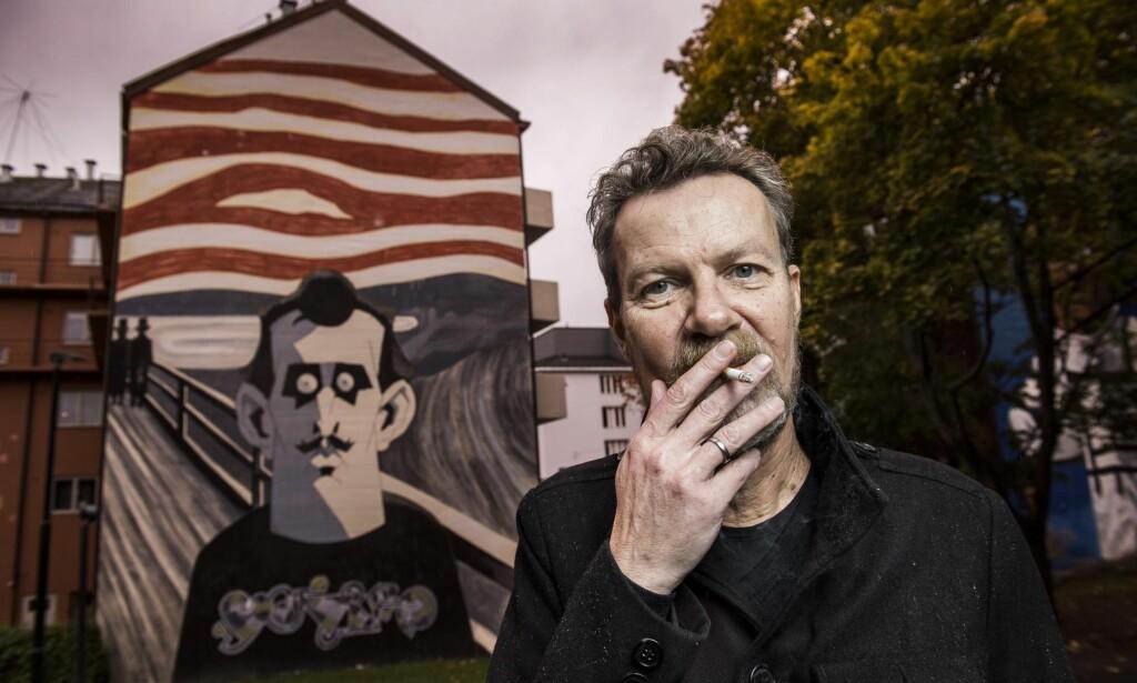 KUNSTENS MAKKER: I snart ti år har Steffen Kverneland levd tett på Edvard Munch. Han er ganske sikker på at de ikke kunne blitt bestevenner. Foto: LARS EIVIND BONES