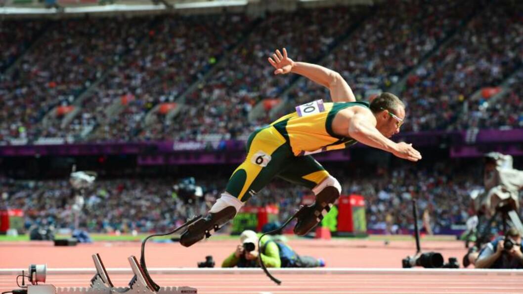 <strong>I VARETEKT:</strong> Oscar Pistorius skal ha skutt og drept kjæresten ved et uhell i natt. Foto: Llivier Morin / AFP / NTB Scanpix