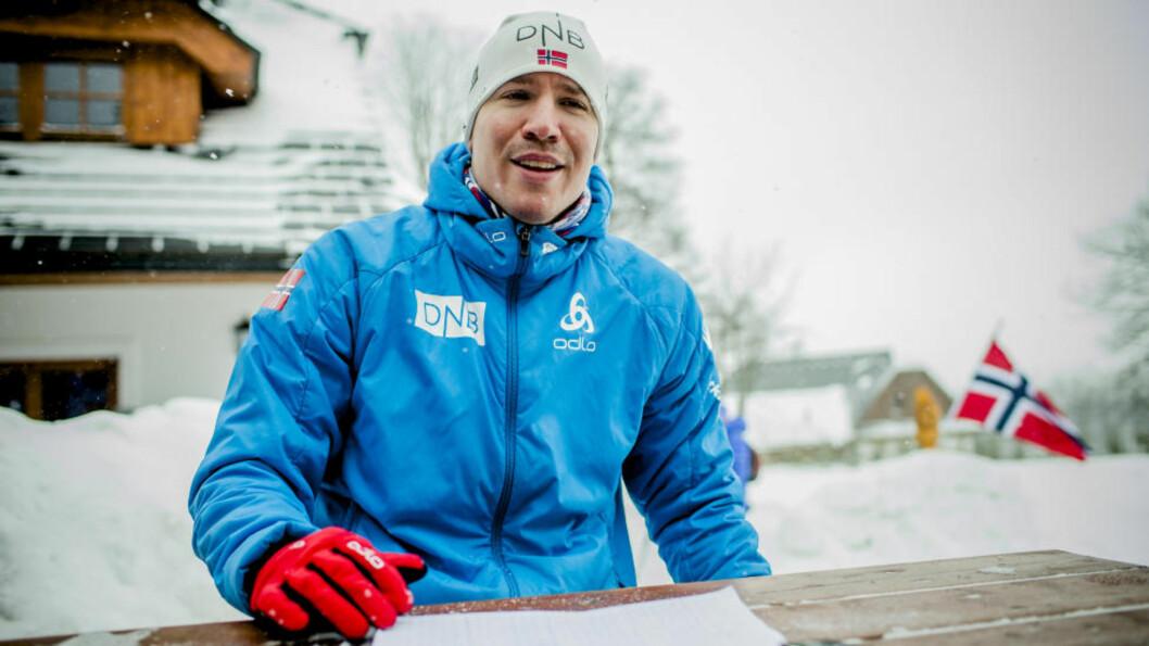 GÅR IKKE I DAG: Emil Hegle Svendsen går ikke dagens 20 km under VM i skiskyting i Nove Mesto Na Morave i Tsjekkia. Foto: Stian Lysberg Solum / NTB scanpix