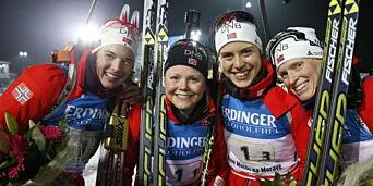 image: Norge tok gull etter superetapper av Berger og Solemdal