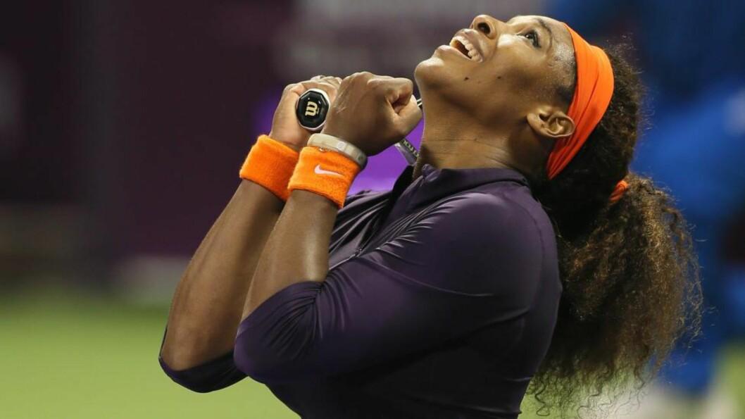 <strong>TILBAKE PÅ TOPPEN:</strong> Tennisspilleren Serena Williams er rangert som nummer én i verden. Foto:  AFP PHOTO