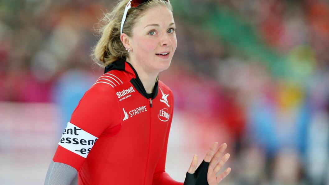 <strong>NUMMER TRE:</strong>  Ida Njåtun etter sin 3000 meter i allround-VM på skøyter i Vikingskipet på Hamar lørdag. Foto: Håkon Mosvold Larsen / NTB scanpix