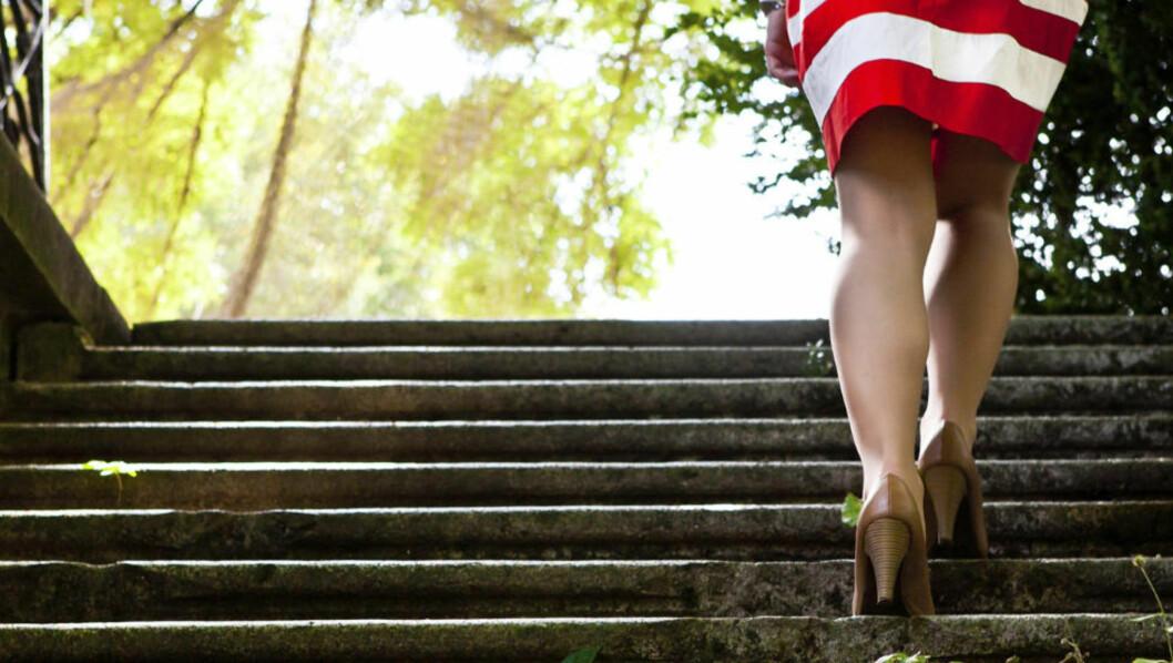 <strong>SAMME FOT:</strong> Vi gjør det ubevisst, men de fleste av oss bruker faktisk den samme foten hver gang vi går opp eller ned ei trapp. Illustrasjonsfoto: Thinkstockphotos