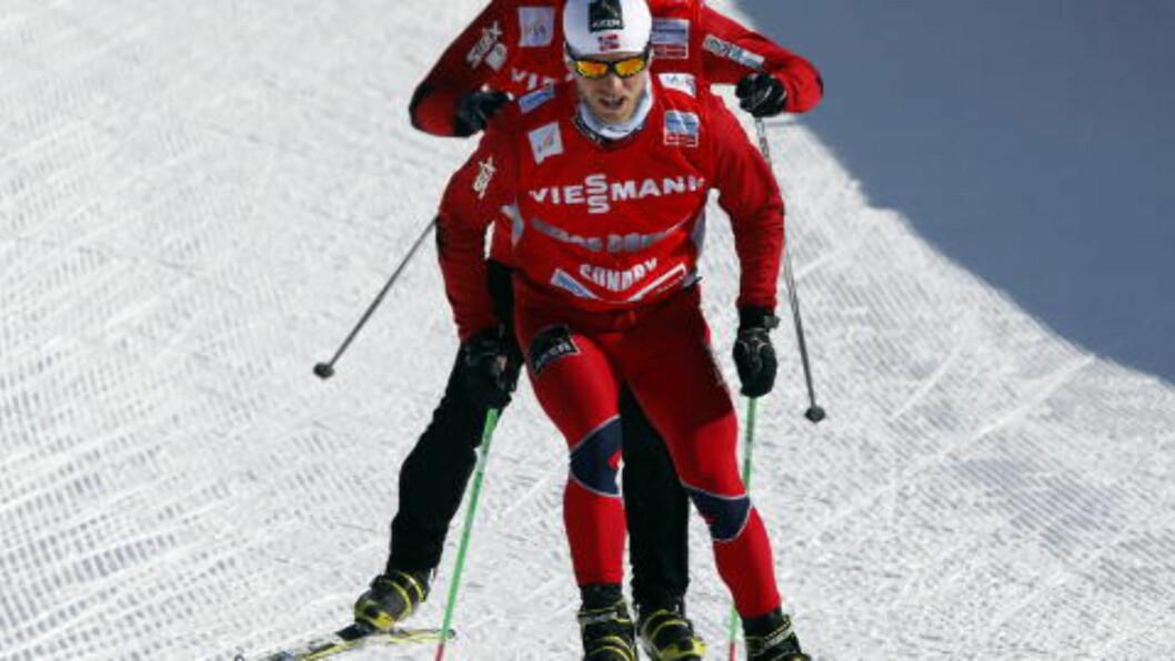 <strong>GÅR FOR MEDALJE:</strong> Martin Johnsrud Sundby ble nummer fem på fellesstart med skibytte i forrige VM. Denne gangen sikter han litt høyere.  Foto: Lise Åserud / NTB scanpix