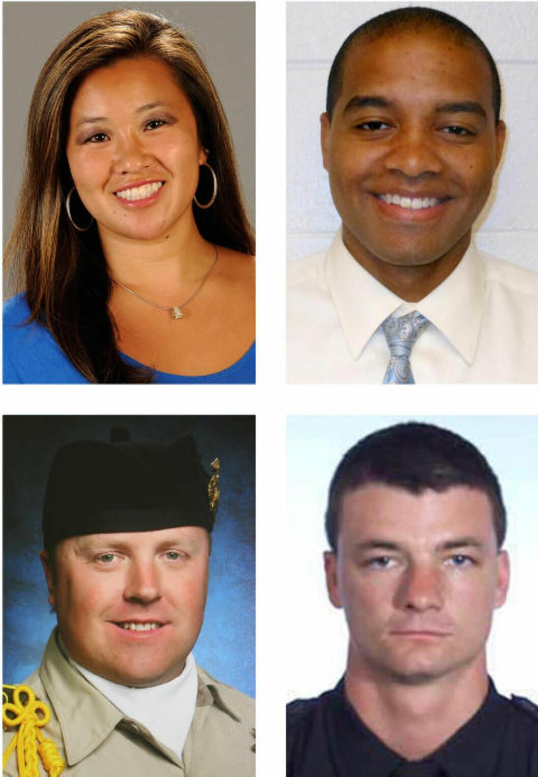 <strong>OFRENE:</strong> Monica Quan, Keith Lawrence, Jeremiah MacKay og Michael Crain. Foto: AP / NTB SCANPIX
