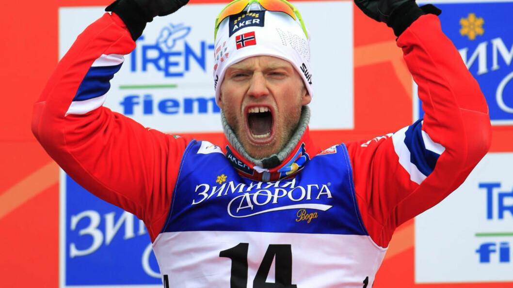 <strong>HADDE EN PLAN:</strong> Martin Johnsrud Sundby hadde en plan som gikk i vasken. Han tok likevel sølv. Foto: REUTERS/Yves Herman/NTB scanpix