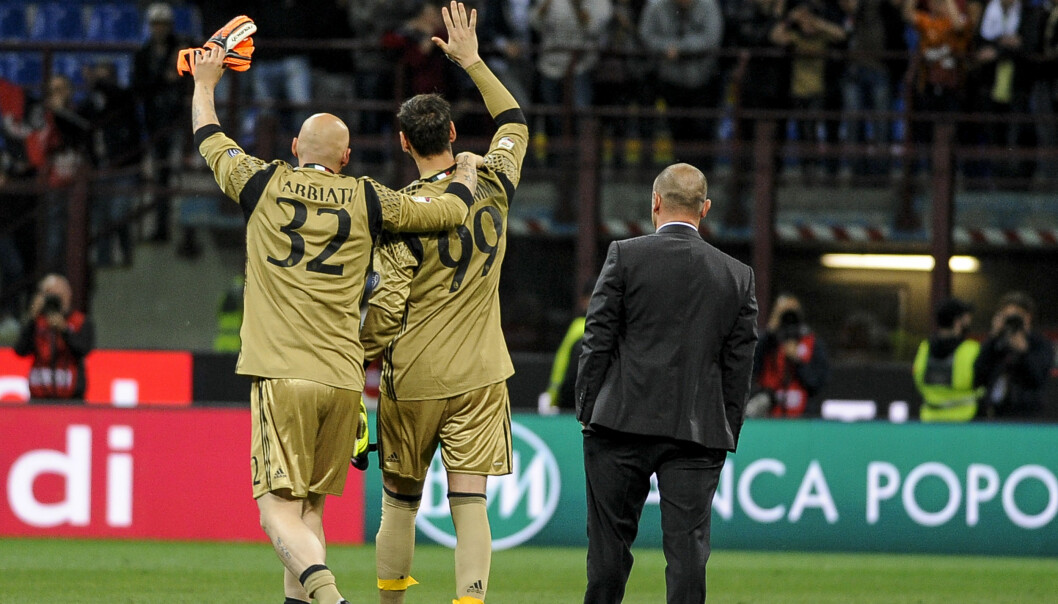 <strong>ARVTAKER:</strong> Christian Abbiati og Gianluigi Donnarumma. Foto: Nicolò Campo / Pacific Press