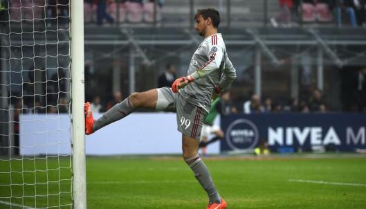 <strong>FØRSTE KAMP:</strong> Gianluigi Donnarumma fra debuten mot Sassuolo 25 oktober 2015. Foto: &nbsp;AFP PHOTO / OLIVIER MORIN