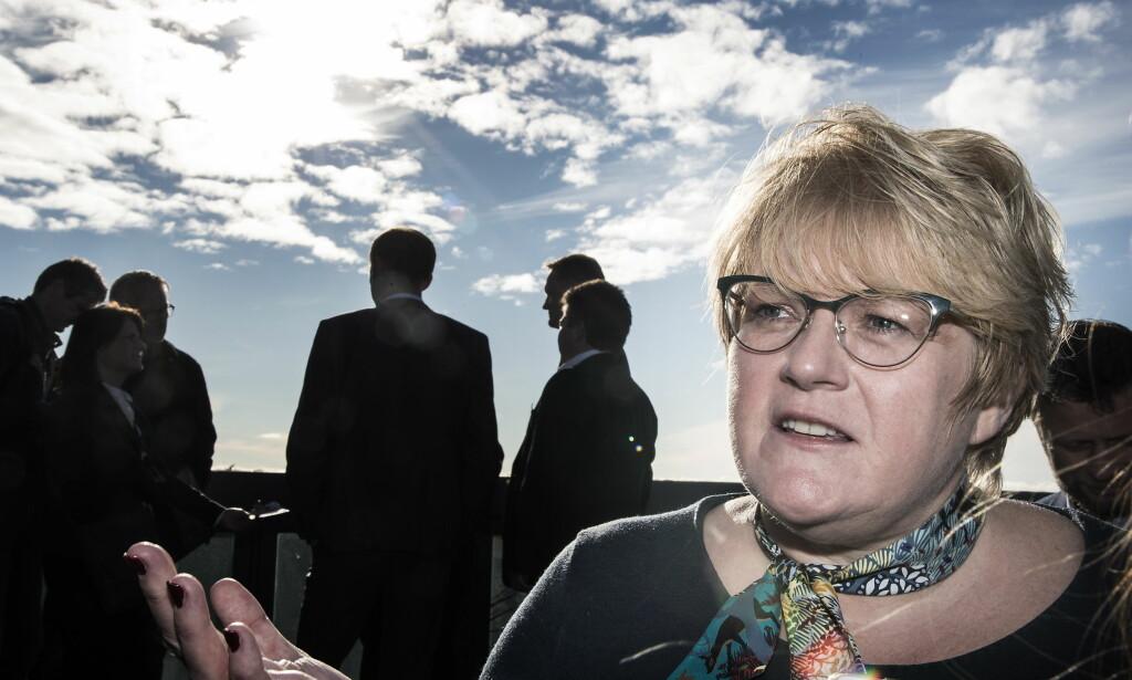 KLAR TALE: Venstre-leder Trine Skei Grande krever at regjeringen bruker 200 millioner kroner på 2000 nye studieplasser. Foto: Hans Arne Vedlog  / Dagbladet