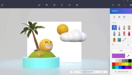 <strong>OPPUSSET KLASSIKER:</strong> Snart kommer 3D-utgaven av Paint, Paint 3D. Foto: Microsoft