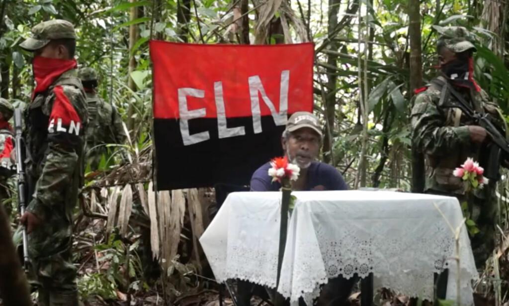 GISSEL: Tidligere parlamentsmedlem Odin Sanchez i fangenskap hos den venstreorienterte geriljaen ELN. Foto: ELN