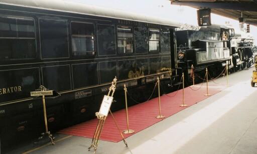EKSLUSIVT: Det østerrikske luksustoget Majestic Imperator selges til den nette sum av 8,9 millioner euro. Foto: Skjermdump: JamesEdition.com