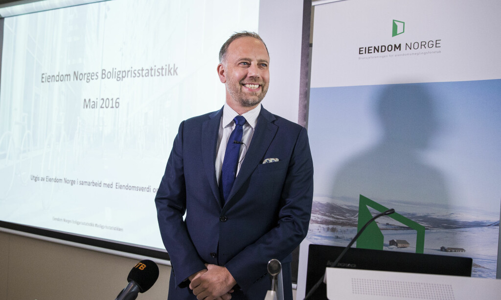 KONFLIKT: I meglerbransjen forekommer lokkepris og 1 av 4 boligkjøp havner i konflikt. Her Christian V. Dreyer i Eiendom Norge, eiendomsmeglernes bransjeorganisasjon. Foto: Tore Meek / NTB scanpix