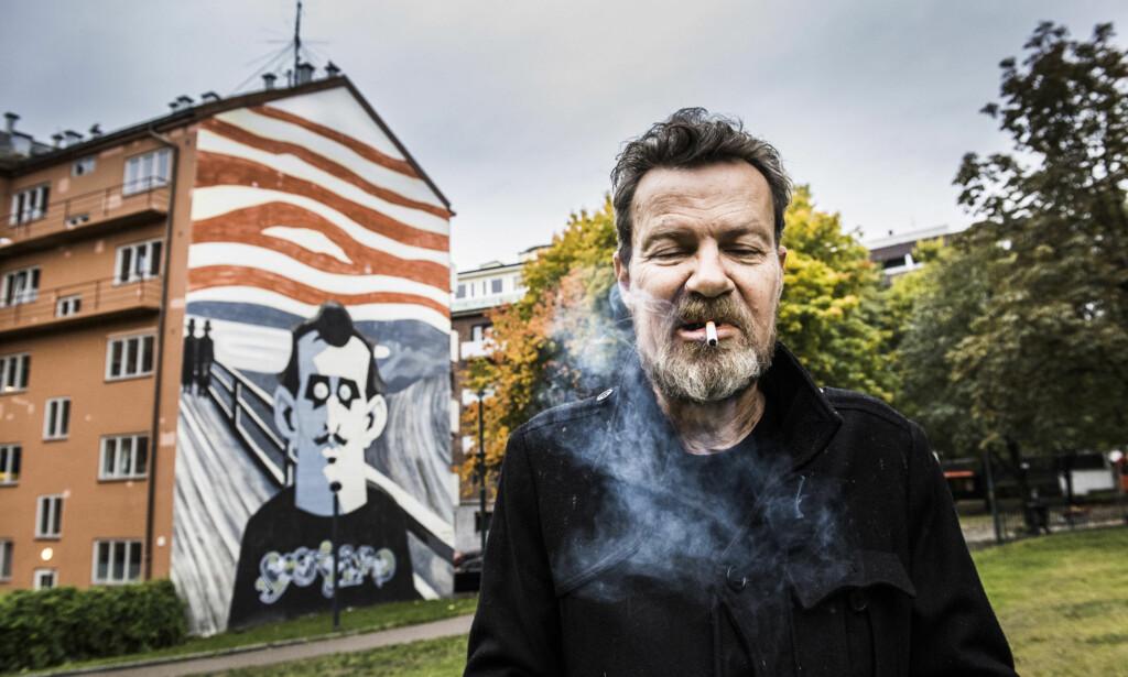 MUNCH-GRØSSER: Steffen Kverneland har gjort Edvard Munch til romanfigur i en vampyrfortelling. Foto: LARS EIVIND BONES