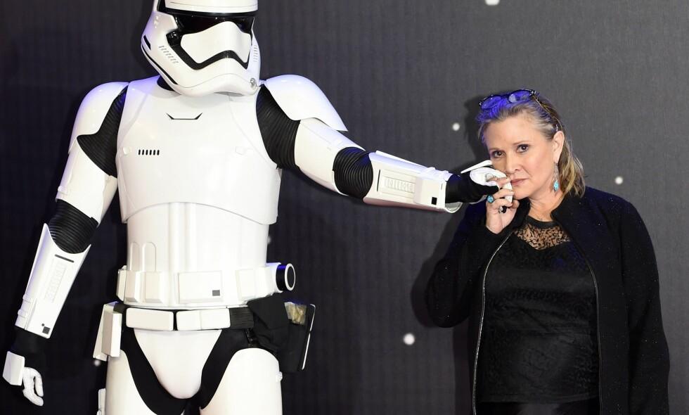 INVOLVERT I SØKSMÅL: Skuespiller og «Star Wars»-veteran Carrie Fisher er saksøkt i forbindelse med en overdose som skjedde i et hus hun eide. Hun har prøvd å få seg selv ut av søksmålet, men har ikke lykkes. Hun må etter all sannsynlighet møte i retten neste år. EPA/FACUNDO ARRIZABALAGA, NTB scanpis